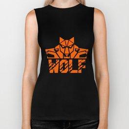 Wolf Pack Head Retro Biker Tank