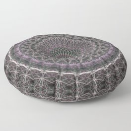 Detailed mandala with pink elements Floor Pillow