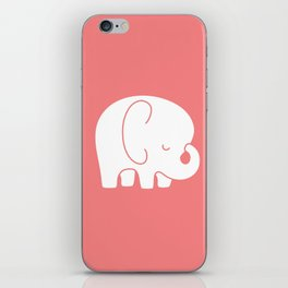 Mod Baby Elephant Coral iPhone Skin