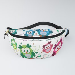 CUTE PLAYFUL OWL Fanny Pack