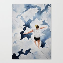 Fall Into the Blue Canvas Print