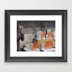 Salami and Cheese Framed Art Print