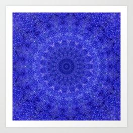 Cosmos Mandala II Cobalt Blue Art Print
