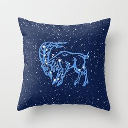 Capricorn Constellation and Zodiac Sign with Stars Throw Pillow