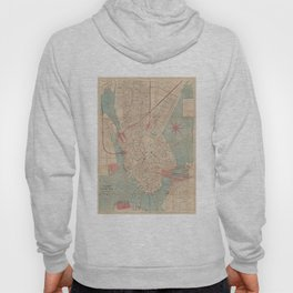 Vintage Map of Boston MA (1882) Hoody