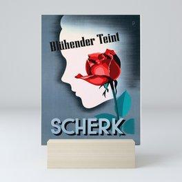 vintage Plakat bluhender teint scherk Mini Art Print