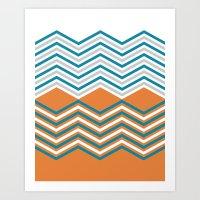 Geometric Modern Print Art Print