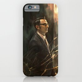 The Abyss Gazes Back iPhone Case