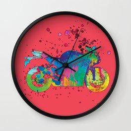 ap127-9 Motorcycle Wall Clock