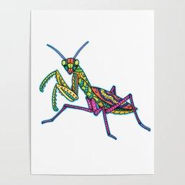 Manti the Praying Mantis Poster