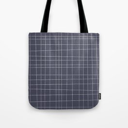 Charcoal Grid Tote Bag