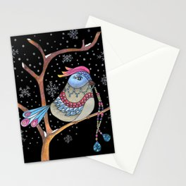 Winter bird Stationery Cards