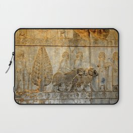 Persians Envoys Bearing Gifts Relief Persepolis Persia Iran Laptop Sleeve