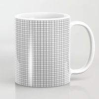 grid Mugs featuring Grid by Georgiana Paraschiv
