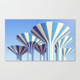 Kuwait Water Towers Canvas Print