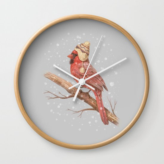 First Snow - colour option Wall Clock