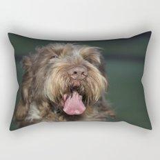 Brown Roan Italian Spinone Dog Head Shot Rectangular Pillow