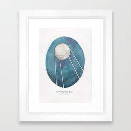 Haruki Murakami's Sputnik Sweetheart Watercolor Illustration Framed Art Print