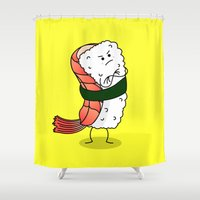 nori Shower Curtains featuring Foods Of The World: Japan by Studio14