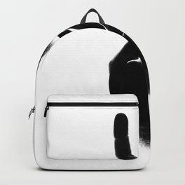 Peace — portrait and white Backpack