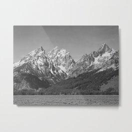 Ansel Adams - Grass Valley and Grand Tetons Metal Print