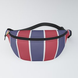Large Red White and Blue USA Memorial Day Holiday Vertical Cabana Stripes Fanny Pack