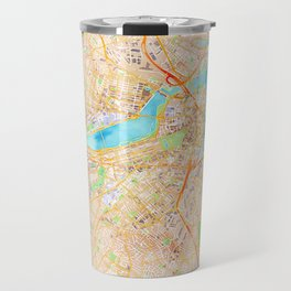 Boston watercolor map XL version Travel Mug