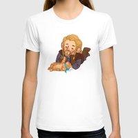 fili T-shirts featuring Fili and Kitten by Hattie Hedgehog