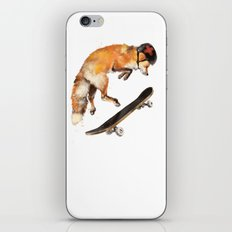 Red Fox the Skater iPhone & iPod Skin