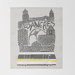 Los Angeles Cityscape Throw Blanket