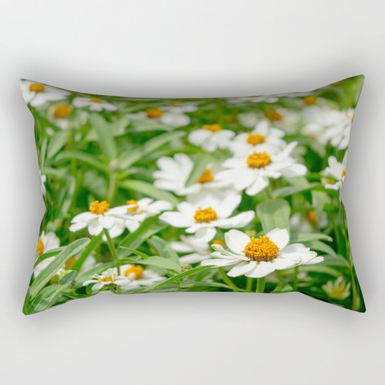 Take Me Where the Flowers Bloom Rectangular Pillow