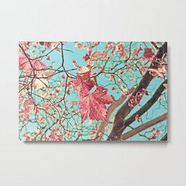 Flying Leaves Metal Print