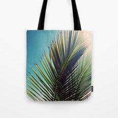 Sunny Palm Tree Tote Bag