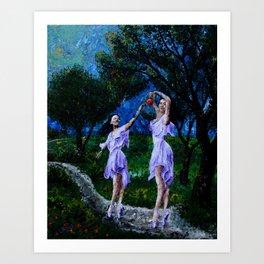 dancing in the garden of delights remix Art Print