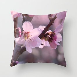 Pink spring time Throw Pillow