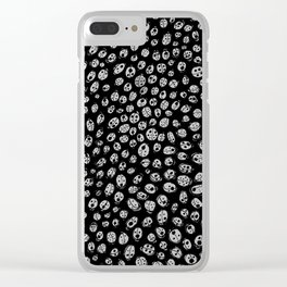 Ladybugs (Red on Black Variant) Clear iPhone Case