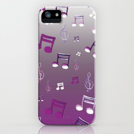 Purple Notes iPhone Case
