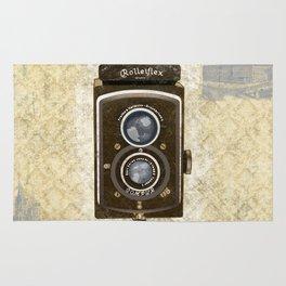 Yellow Vintage Camera Art Rug