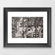 Kid at heart - Black & White Framed Art Print