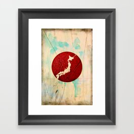 To Japan Framed Art Print