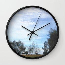 Grainy Islet Sky Wall Clock