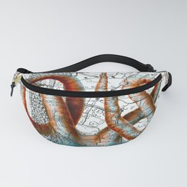 Octopus Tentacles Vintage Map Nautical Fanny Pack