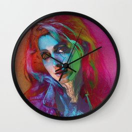 Galaxy Grunge Wall Clock