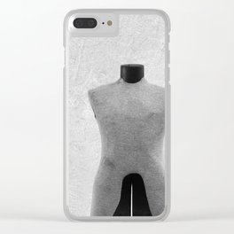 Vintage Dress Form in Black and White Clear iPhone Case