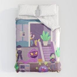 Tiny Worlds - Rocket HQ Comforters