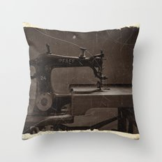 Pfaff Sewing Machine Throw Pillow