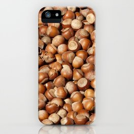 Hazelnuts pattern iPhone Case