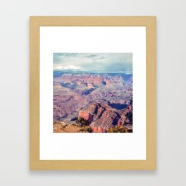 Grand Canyon Passing Storm Framed Art Print