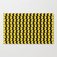 pac man Canvas Prints featuring Pac-Man by Jennifer Agu