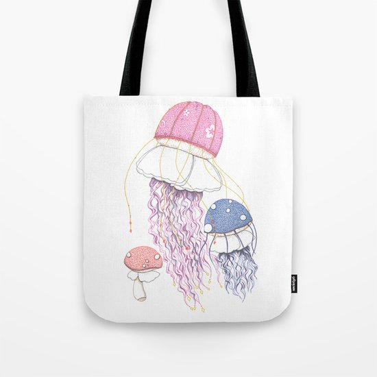 Jelly Shrooms Tote Bag